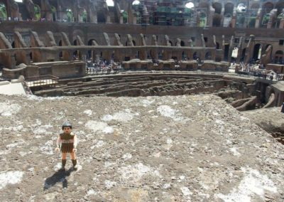 Jefe at the Colosseum in Rome