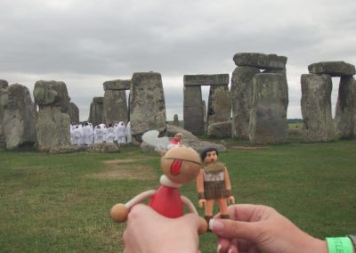 Jefe Making Friends at Stonehenge